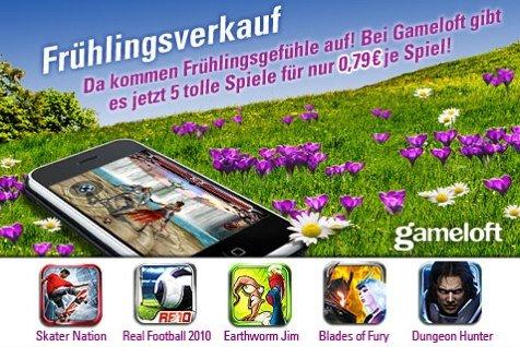 Frühlingsverkauf: Gameloft Apps zum reduzierten Preis