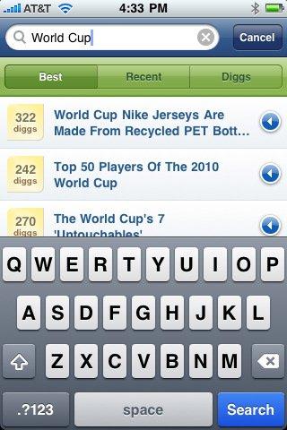 AppStore: Offizielle Digg.com App verfügbar