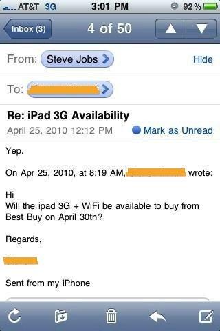 Jobs: iPad 3G ab 30. April bei Best Buy