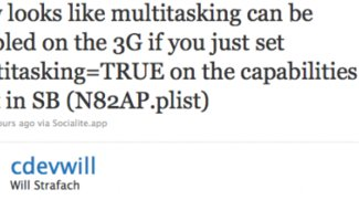 iPhone OS 4: Multitasking für iPhone 3G doch möglich?