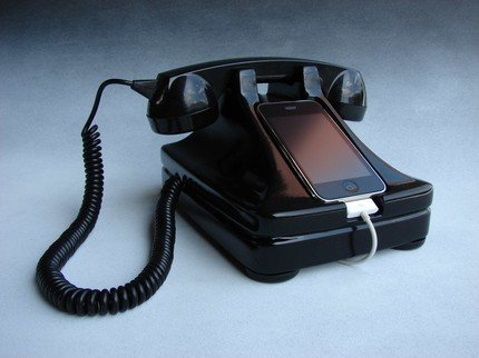 iRetrofone: iPhone Dock im Retro-Look