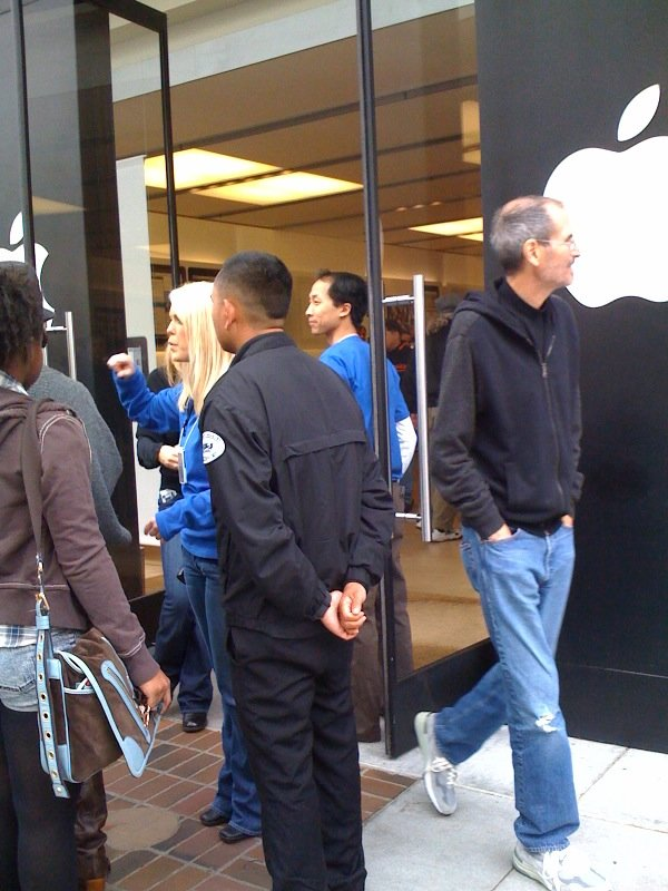 Steve Jobs im Apple Store