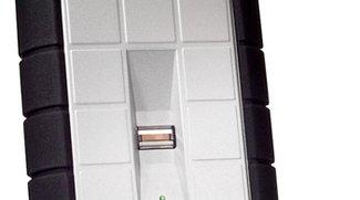 LaCie-Festplatte mit integriertem Fingerabdruck-Sensor