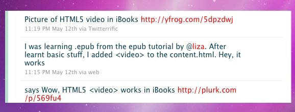 Videos in iBooks: HTML5 machts möglich