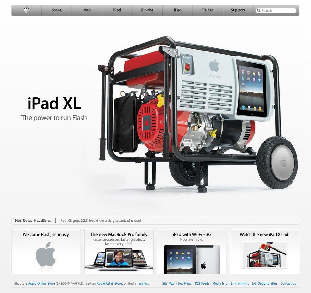 Wenn das iPad Flash könnte...