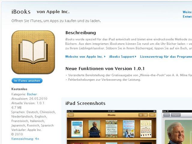 iBooks-App startet in Deutschland