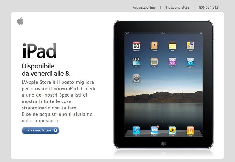 iPad-Verkaufsstart: Italien und England öffnen früher