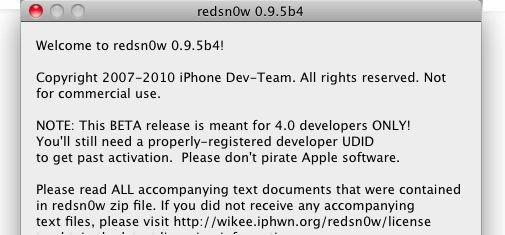Dev Team veröffentlicht redsn0w 0.9.5 beta 4