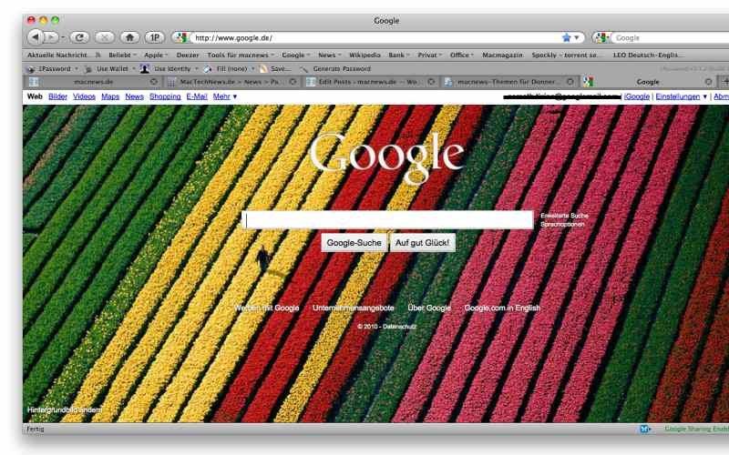 Eigene Hintergrundbilder in der Googlesuche
