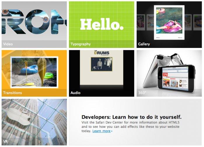 Apple zeigt die Vielfalt von HTML5