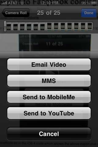 Die bisherigen Export-Möglichkeiten für Videos