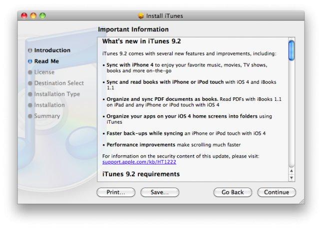 iTunes 9.2: Support für iOS4 und iPhone 4 - Jailbreak Probleme