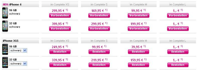 iPhone 4: Alle Preisinfos für Deutschland