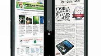 """Toshibas """"Libretto W100"""": halb iPad, halb Nintendo DS"""