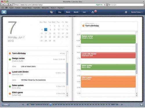Neuer MobileMe Kalender