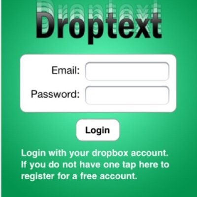 Droptext-App fürs iPhone: Textbearbeitung in der Dropbox