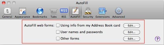 Safari 4 &amp&#x3B; 5: Sicherheitslücke in AutoFill