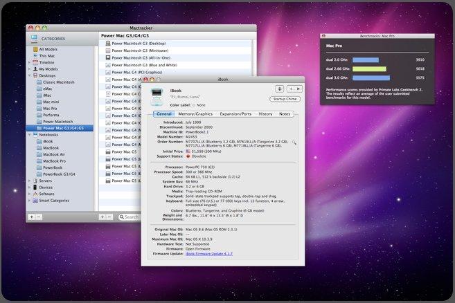 Mactracker aktualisiert Apple-Hardware-Datenbank
