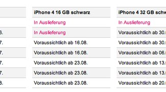 Telekom informiert über iPhone-4-Lieferstatus