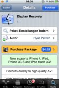 Cydia: DisplayRecorder v1.1, 3G Unrestrictor