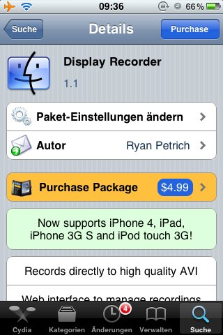 Cydia: DisplayRecorder v1.1, 3G Unrestrictor