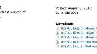 Apple veröffentlicht iOS 4.1 Beta 3 für Entwickler