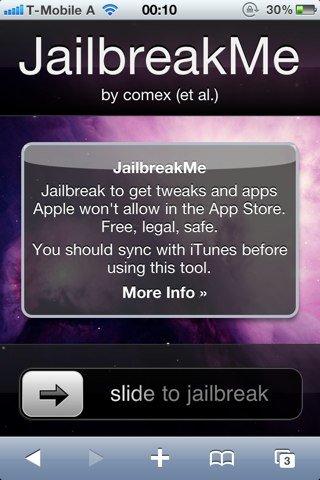 JailbreakMe.com: Jailbreak für alle iOS-Geräte &amp&#x3B; -Versionen veröffentlicht [Update x7]