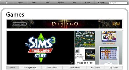 Apple.com/Games: Apple mit Spiele-Sonderseite