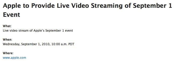 Heutige Keynote: Apple bietet LIVE-Videostream des Special Events