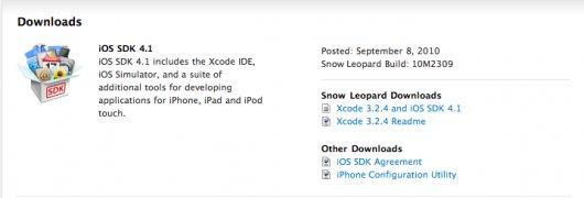 Apple veröffentlicht iOS SDK 4.1