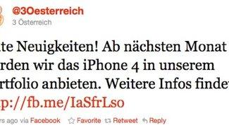 Exklusivität in Österreich: iPhone 4 ab Oktober bei Drei