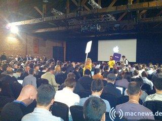 Apple Keynote: 09.2010 Blick auf die Leinwand