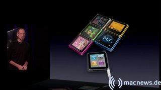 Apple Keynote: iPod Nano alle Farben