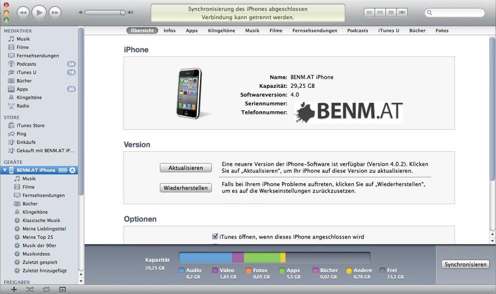 Auch Jailbreaker können unbesorgt auf iTunes 10 updaten