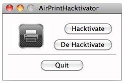 Tool reaktiviert AirPrint in Mac OS X 10.6.5 mit einem Klick