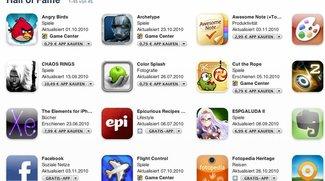 Apples Hall of Fame der Apps