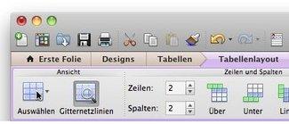 Office:mac 2011: Menüband statt Symbolleisten
