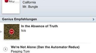iTunes 10: iTunes Sidebar zeigt Ping und Genius