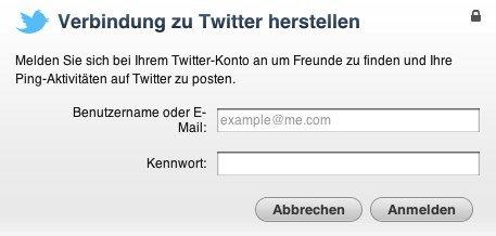 iTunes Ping integriert Twitter