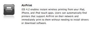 AirPrint möglicherweise zunächst nur mit kompatiblen HP-Druckern