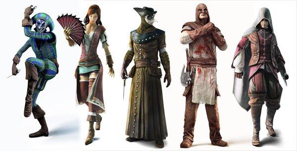 assassins creed brotherhood-charaktere