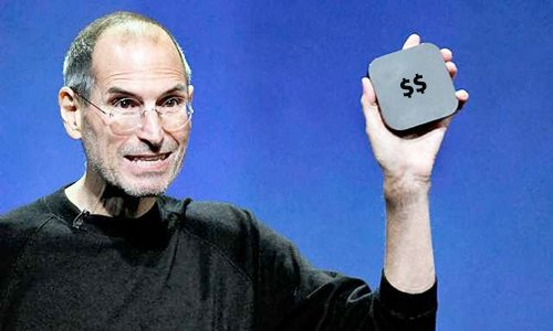 Steve Jobs mit Apple TV