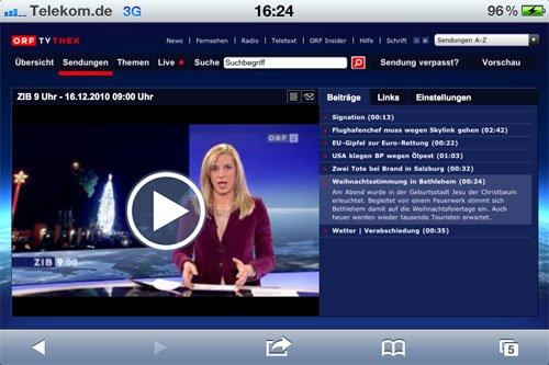 Österreich: ORF TVthek ab sofort iOS-kompatibel