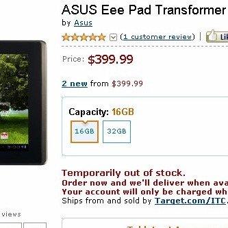 Asus Eee Pad Transformer auch in den USA sofort ausverkauft