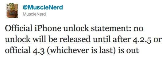 Dev Team Status: iOS 4.3 Unlock und untethered Jailbreak