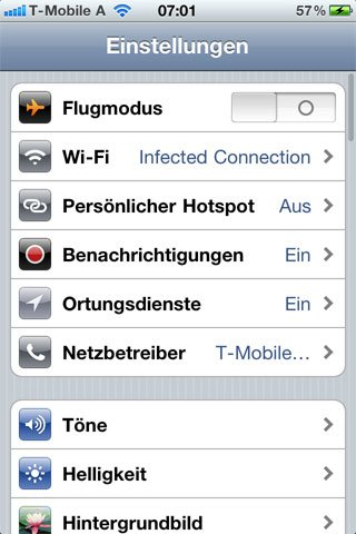 iOS 4.3: Personal Hotspot und iPad, Multitouch, iPhone 3G, Changelog