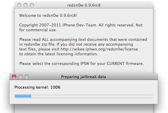 redsn0w 0.9.6 RC 8: Neuer Bugfix-Version des iOS 4.2.1 Jailbreaks