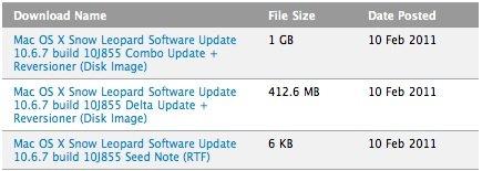 Vierter Vorab-Build von Mac OS X 10.6.7