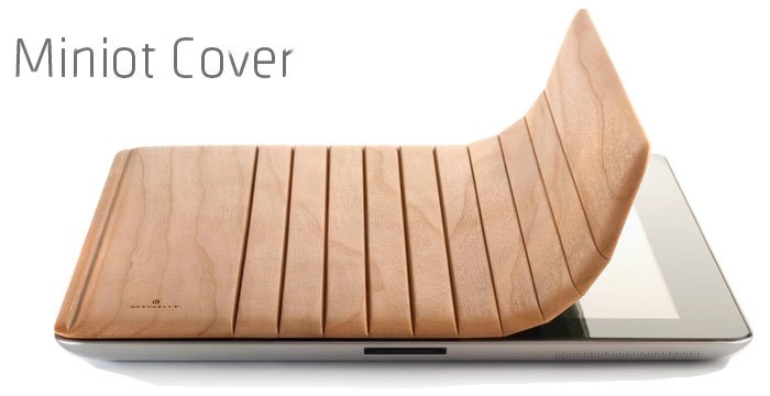 Miniot Cover: iPad 2 Smart Cover aus Holz