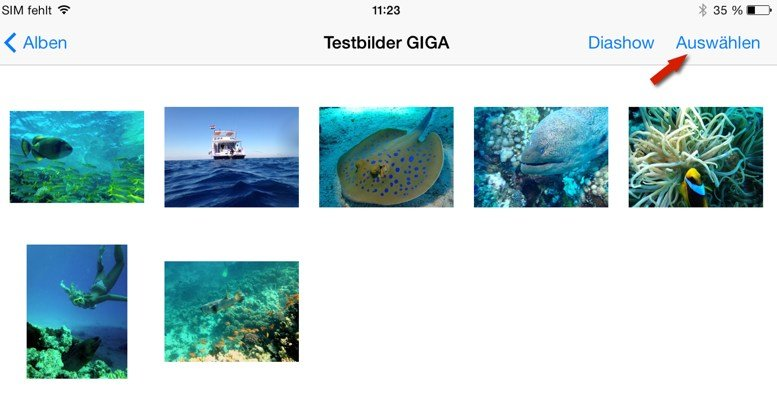 iPad-Bilder-versenden-auswaelen